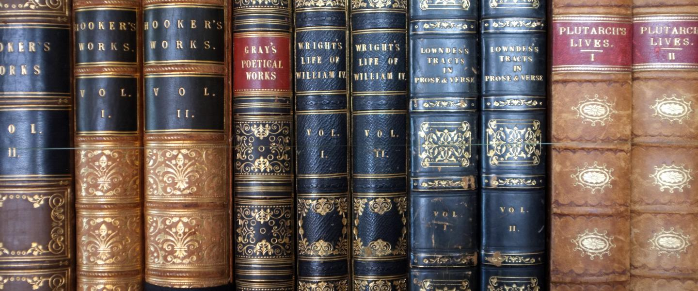 Old leatherbound books