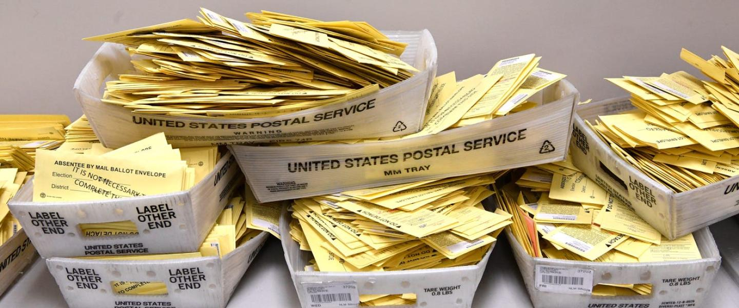 Stacks of mail